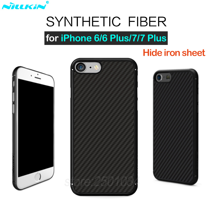 the best attitude 5ae2c 1c13b US $13.63 |Nillkin Carbon Fiber Back Cover Case for iPhone 6 6s 7 Plus Case  Cover fit Magnetic Phone Holder for iPhone 6 7 Plus-in Fitted Cases from ...