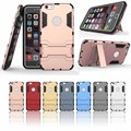 Hot Shockproof Hybrid Armor Rubber Heavy Duty PC + TPU Case Cover For iPhone 5S/SE/6/6S/6 Plus/6S Plus Stand Phone Cases