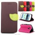 Top quality leather flip case capa para samsung galaxy s Duos S7562 7562 Mobile Phone Capa Carteira Com Cartão Slot
