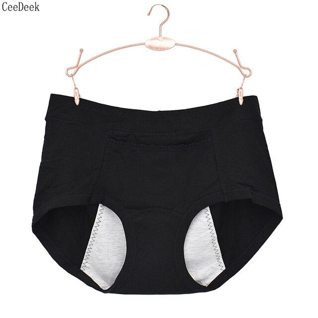 27342d71a4f Culotte physiologique femme grande taille coton bio Cycle sous-vêtements  menstruation taille haute étanche Hipster