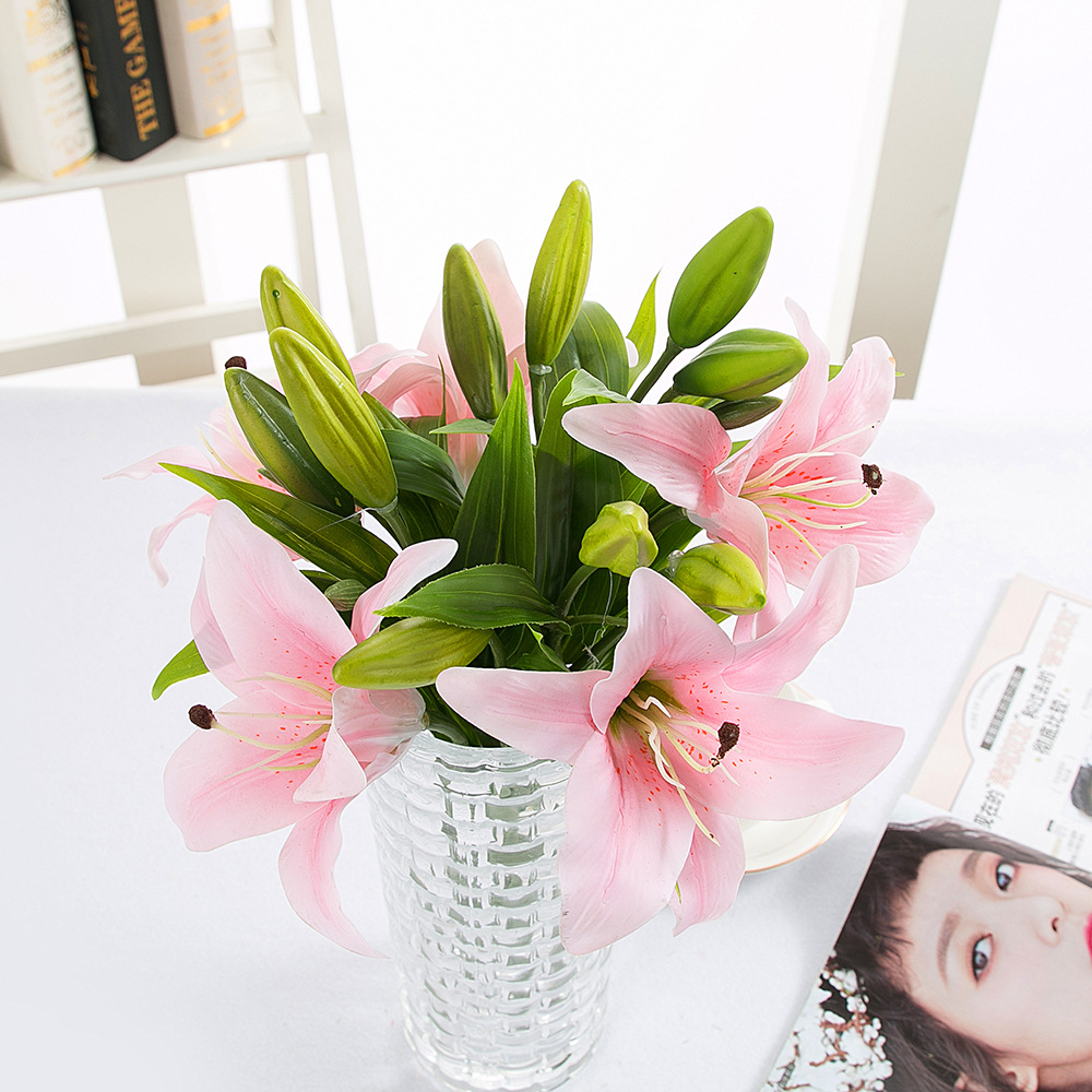 10pcslot Artificial Flower Lily Flowers European Style Home Table