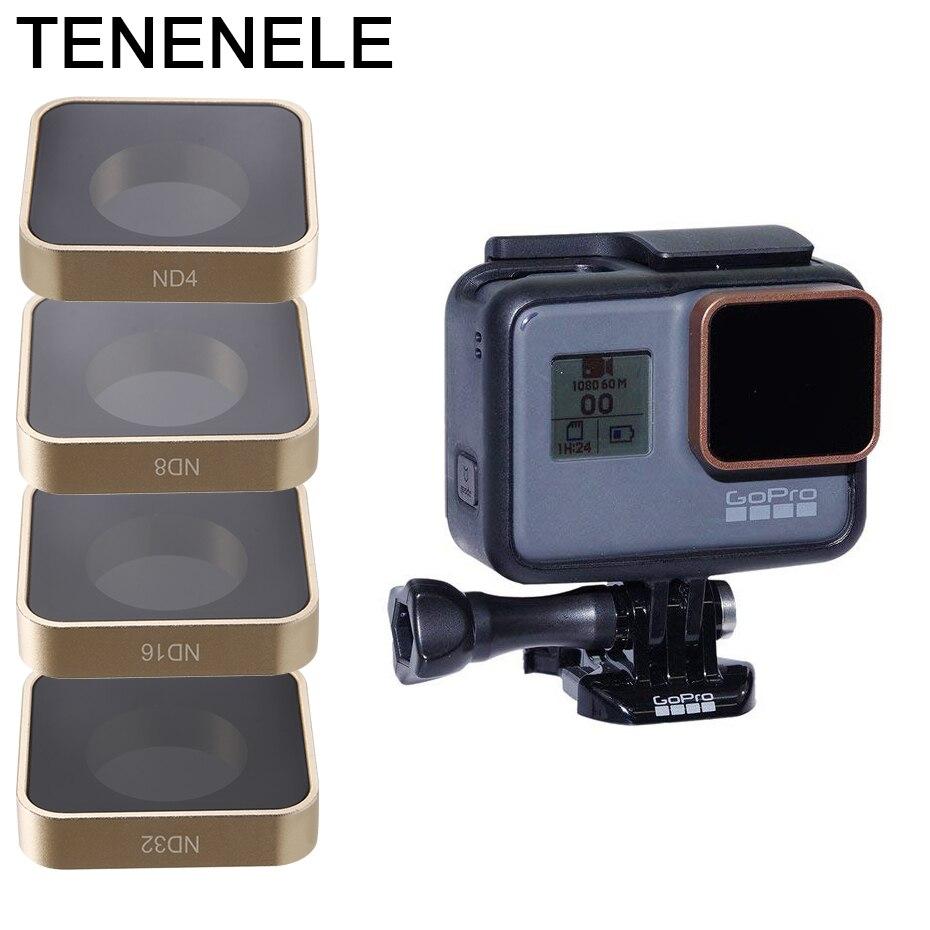 Набор фильтров для экшн-камеры TENENELE для GoPro Hero 6 5 ND4 ND8 ND16 ND32 аксессуары для фильтров для go pro Hero 2018