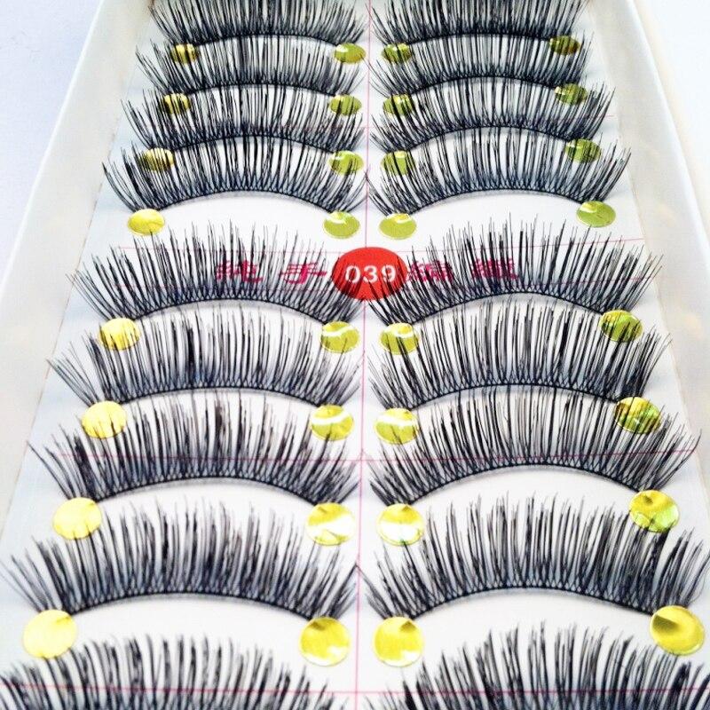 30 Pairs/Set Eye Make Up Soft Natural False Eyelashes Handmade Fake Lashes Long Thick Makeup Extension Tools