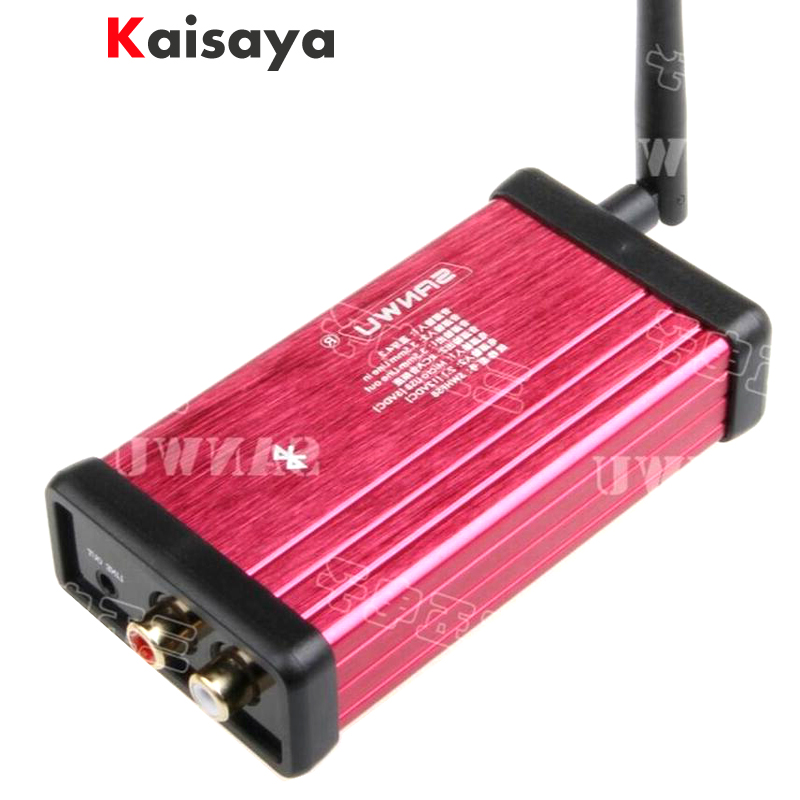 Bluetooth 4.2 audio receiver box support AUX APTX low delay AD823 power modified HIFI pre class amplifier in case T0417