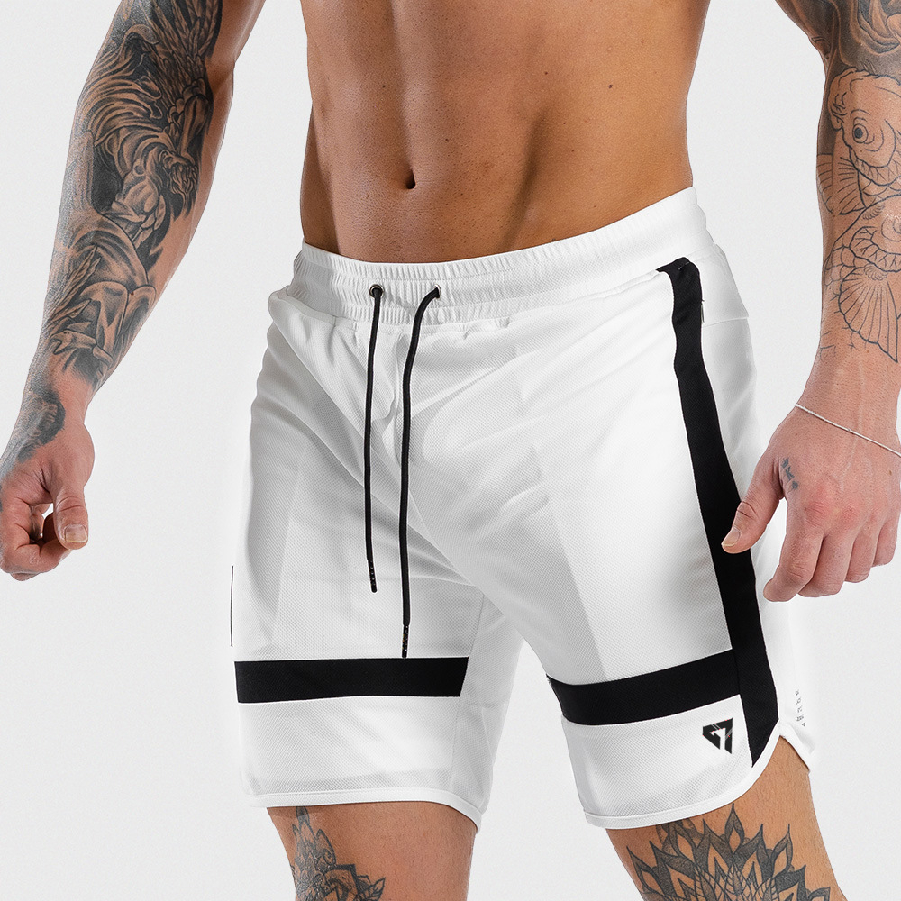 Men Fitness Sweatpants Shorts Man Summer Gyms Workout Male Breathable Mesh Quick Dry Sportswear Jogger Beach Brand Short Pants