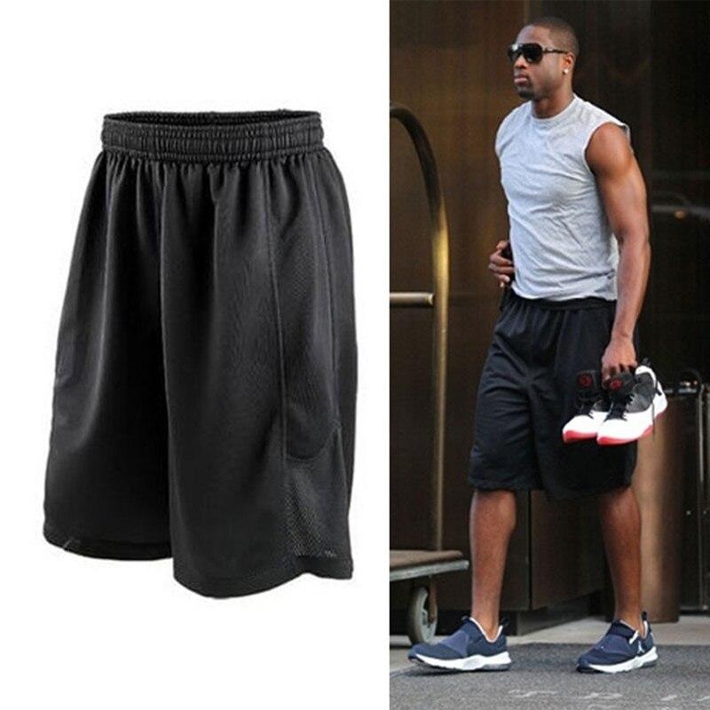 26a2fb5e4701 2018 Cheap Stars Black Basketball Shorts Quick Dry Breathable Training  Basket-ball Jersey Sport Running Shorts Men Sportswear