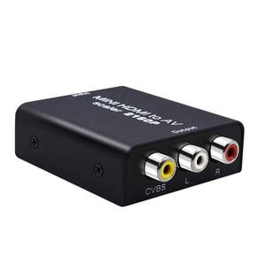 Image 2 - 4K adattatore da HDMI a AV convertitore Video HD da HDMI a RCA AV/CVSB L/R Video 480P 720P 1080P 2160P supporto NTSC PAL HDMI2AV