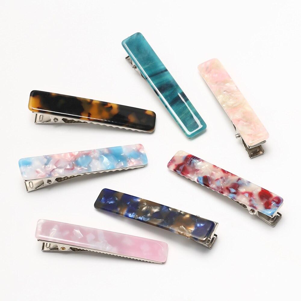 Fashion Women Acid Acrylic Long Barrettes Hair Clip Hairpin Hair Pin Accessories
