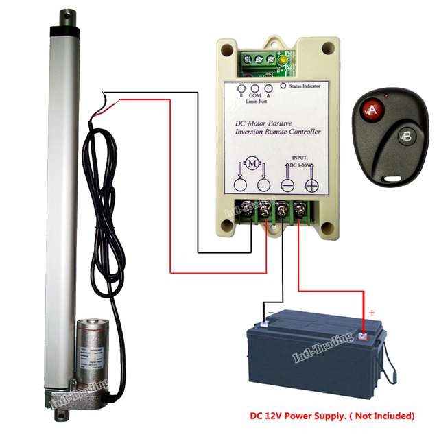 US $64 68 25% OFF 14mm/s High Spd Linear Actuator 100KG Load 350mm 14