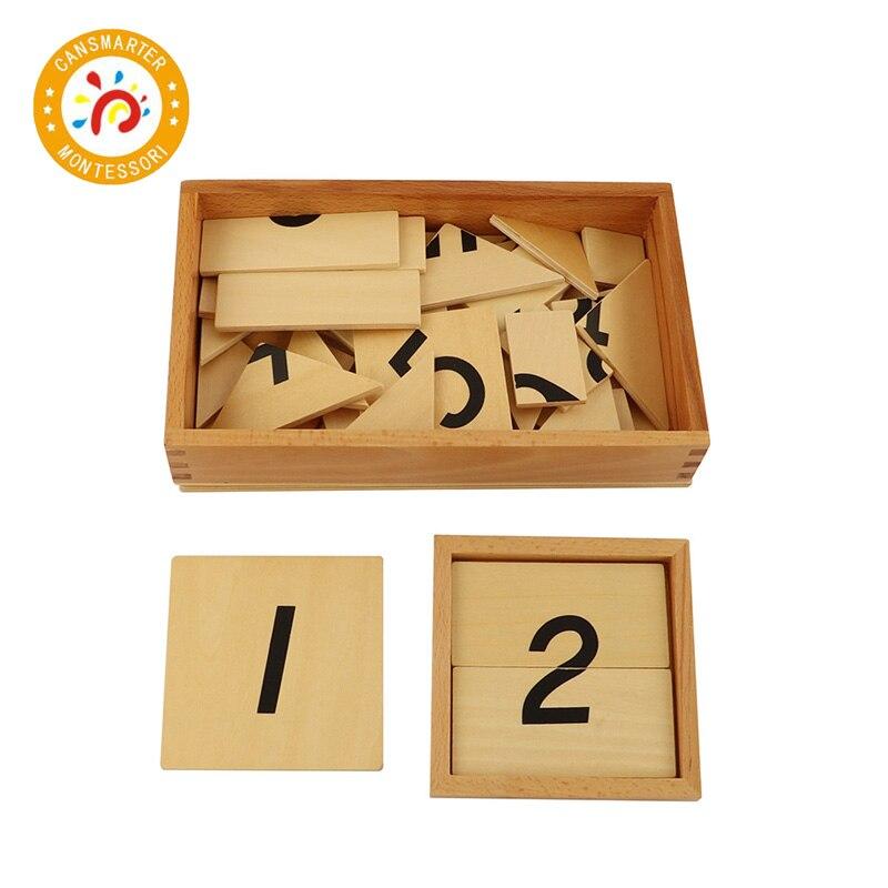 Jouet bébé Montessori Puzzle 1-9 numérique numéro Segmentation numérique avec boîte en bois Puzzle jouets éducation précoce