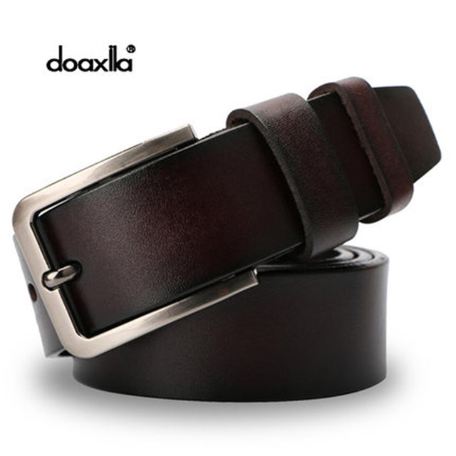 Doaxila Men Belt Designer Cowhide Mens Cow Genuine Leather Mens Belts Luxury Strap Male Belts for New Fashion Vintage Pin Buckle