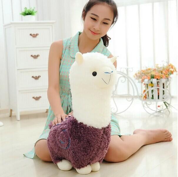 Grand beau jouet en peluche mouton créatif dieu bête poupée violet alpaga jouet cadeau environ 70 cm 0184