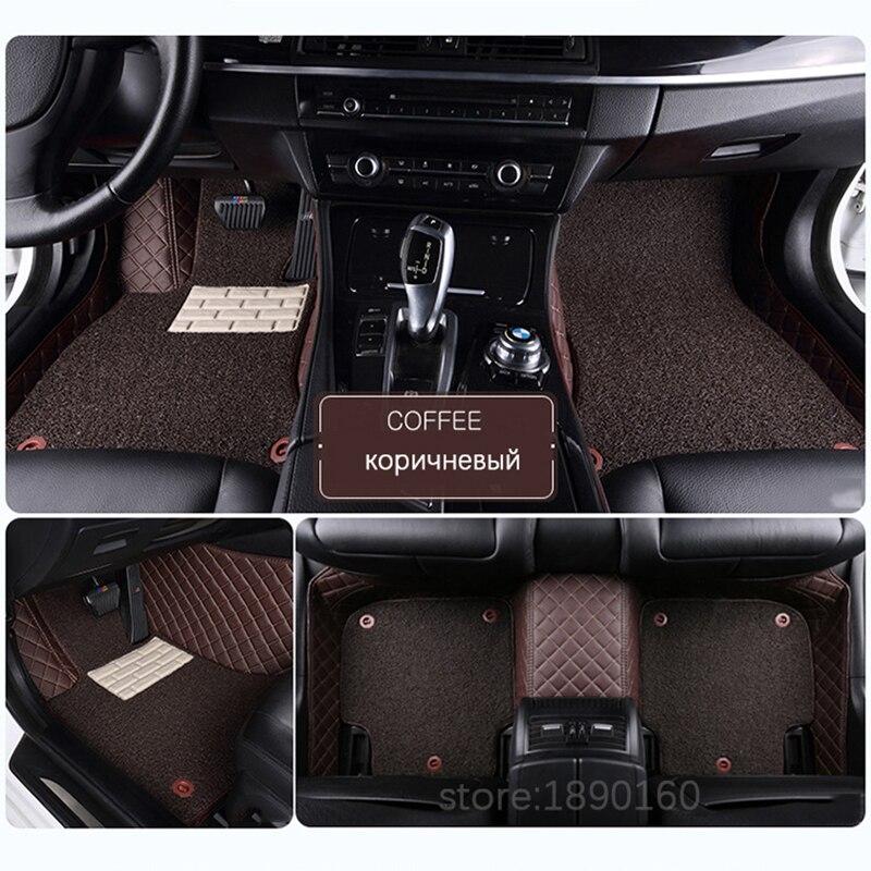 Personnalisé de voiture tapis de sol pour Cadillac SLS ATSL CTS XTS SRX CT6 XT5 ATS Escalade accessoires auto voiture style de voiture tapis