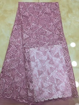 african cord lace fabric 2019 high quality french tulle lace fabric Unique New embroidered net lace fabric for party dres