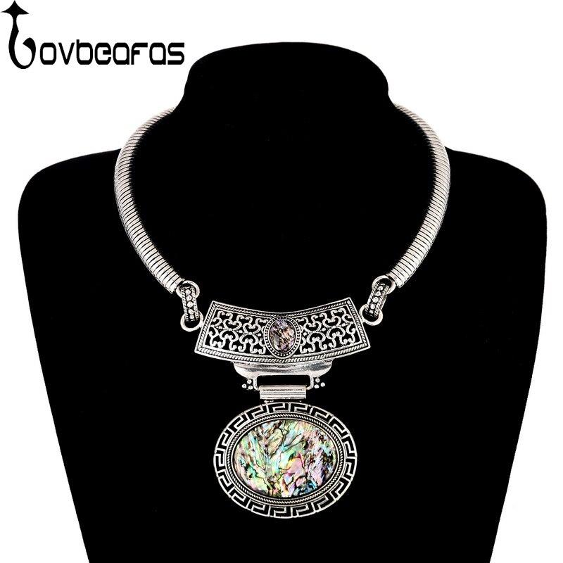 LOVBEAFAS Fashion Maxi Statement Choker Necklaces & Pendants