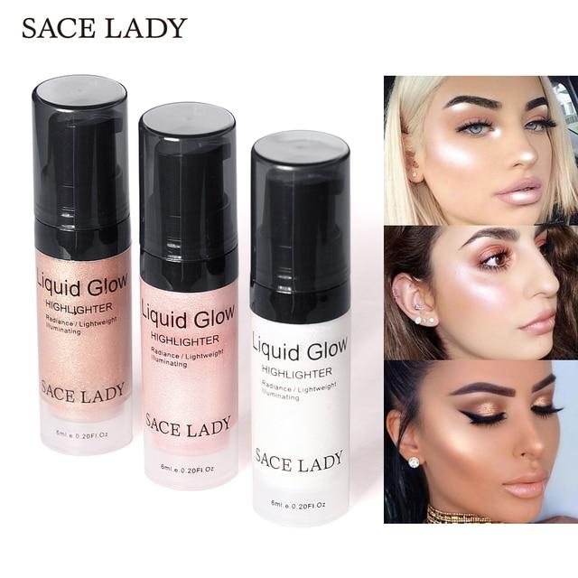 SACE леди уход за кожей лица хайлайтер крем жидкость Сияющий макияж Shimmer комплект свечения макияж скрасить блеск бренд косметический