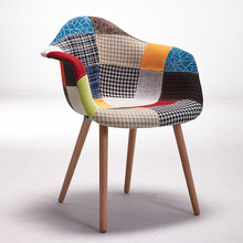 Set of 2 Modern Style Upholstered Armchair Accent Chair Natural Wood Leg Living Room Chair Furniture Wooden Design Arm Chair