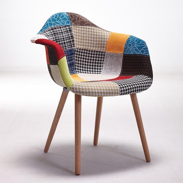 Set Von 2 Moderne Art Polster Sessel Akzent Stuhl Natürliche Holz Bein Wohnzimmer  Stuhl Möbel Holz