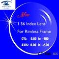 SKY & SEA OPTICAL Novo Índice de 1.56 Lentes de Óculos de Lentes de Prescrição para Óculos Sem Aro Óculos de Armação lentes opticos Das Mulheres Dos Homens