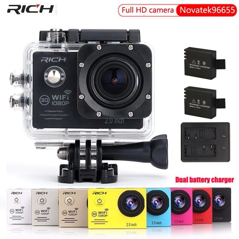 Action Camera Gopro hero4 stlye Novatek96655 WIFI HD 1080p 30Fps Helmet Head Video Bike Cams Waterproof 30M Sport Camera f88 action camera black