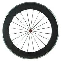 Hot sale Alloy carbon wheels clincher road bike wheelset 80mm bicycle wheel 700C carbon wheels