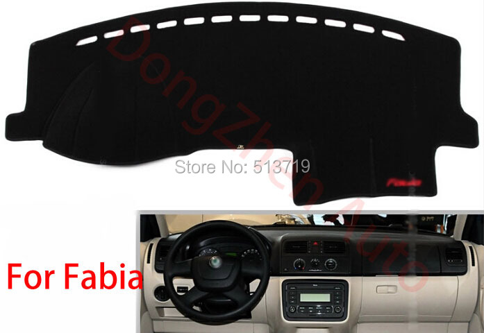 Car dashboard Avoid light pad Instrument platform desk cover Mats Carpets Auto accessories For skoda Fabia