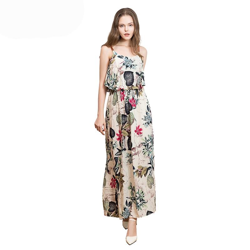WHZHM Summer Maxi Dress Women Sleeveless Flower O-Neck Cotton Beach 2018 Hollow Out Vestido De Festa Floral Long Women Sundress