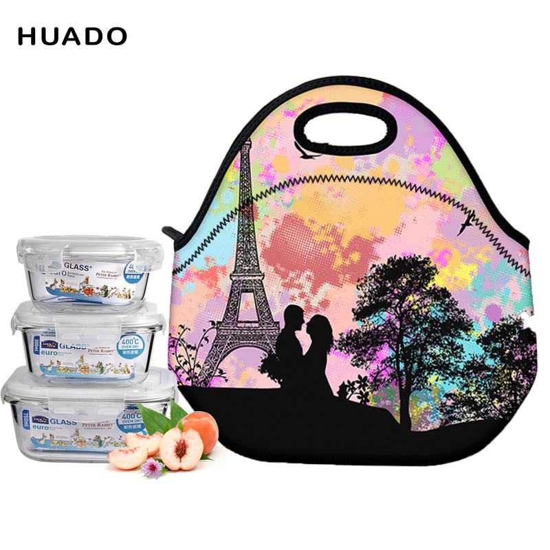Fashion Portable Insulated lunch Bag Thermal Food Picnic Lunch Bags for Women kids Men
