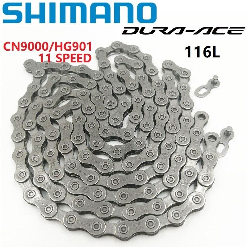 Shimano DURA-ACE CN 9000 Cadeia De Ligação 116 Velocidade de Estrada Bicicleta Mountain Bike 11 HG901 Corrente Com Ligação Rápida