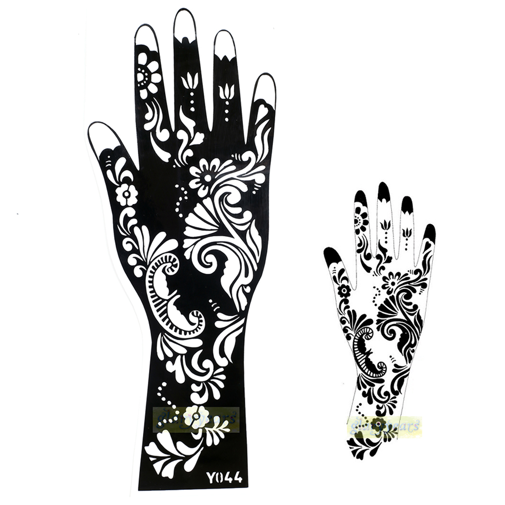 Buy 1pc hot exquisite mehndi flower lace for Henna temporary tattoo stencils