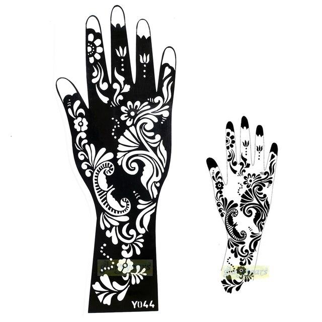 1pc Hot Exquisite Mehndi Flower Lace Design Stickers Henna Glitter ...