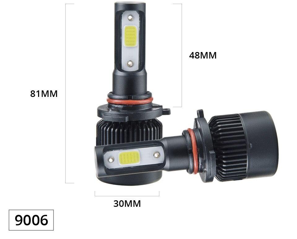 1 pcs LED H7 LED Car Headlight Bulb 8000LM LED H4 H7 H11 9005 9006 9012 4300k 6500k COB Hight Low beam MINI 12V 24V 72W 50000h (12)