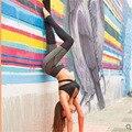 Mulheres Leggings De Algodão Do Moderno de Fitness Cinza e Preto Malha Leggins 2017 Senhoras Marca de Moda Empurrar Para Cima Trabalhar Fora Legging
