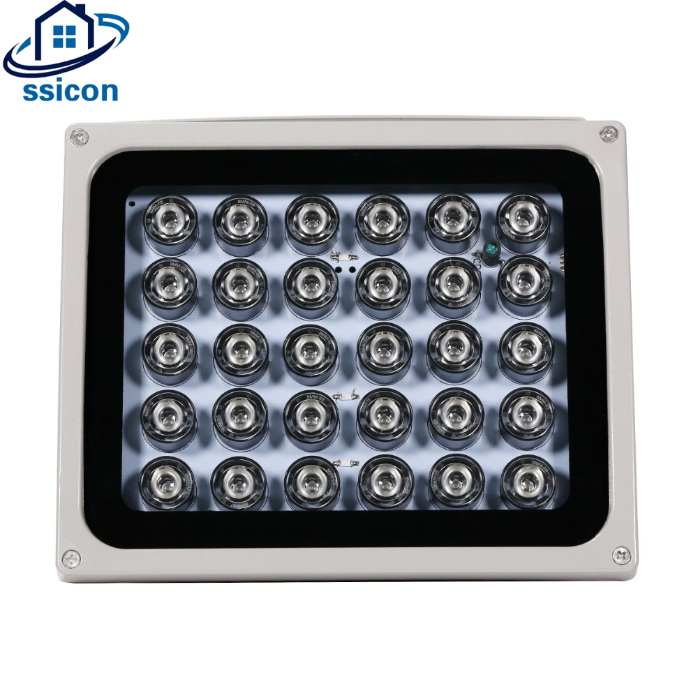 CCTV LEDS 30Pcs IR Infrared Illuminator night vision 850nm IP65 Metal Waterproof outdoor CCTV Fill Light For CCTV camera azishn cctv 12pcs array leds ir illuminator infrared outdoor waterproof night vision cctv fill light for cctv security camera