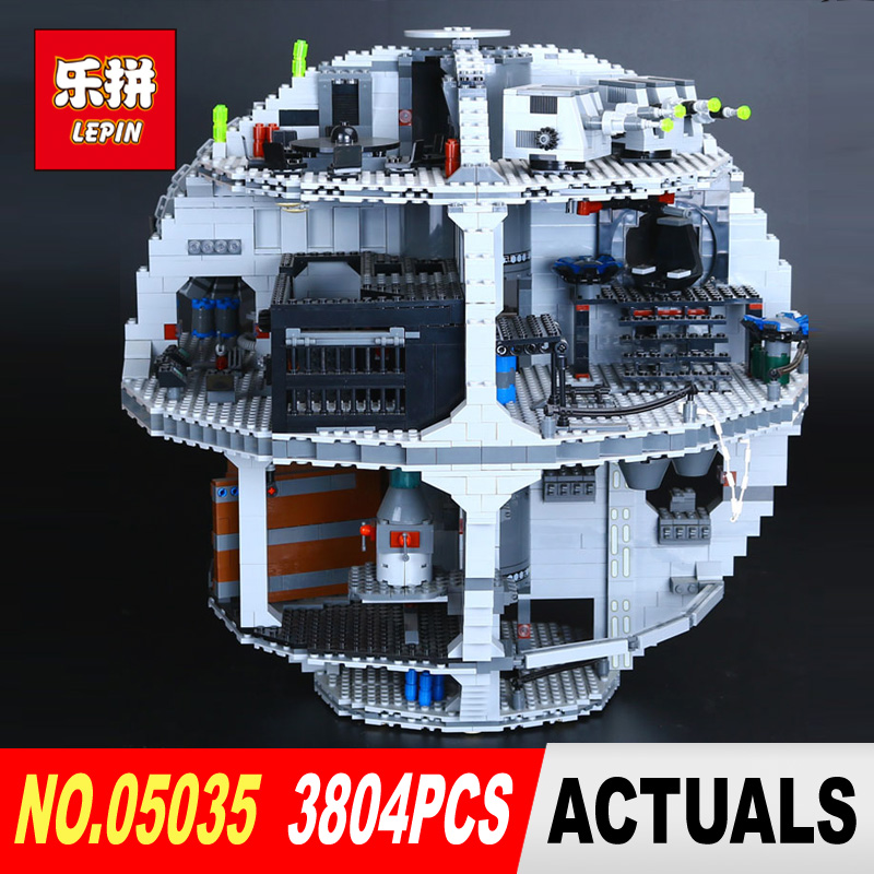 LEPIN 05035 Star Classic Wars Death Star 3804Pcs Building Block Bricks Toys Compatible with 10188 Children Educational Gift lepin 22001 pirate ship imperial warships model building block briks toys gift 1717pcs compatible legoed 10210