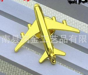 Image 2 - 50pcs/lot Airplane Badge Brooches Golden Aircraft Plane Brooched Badge Suit Fashion Jewelry Gift Plating High Quality W/O boxes