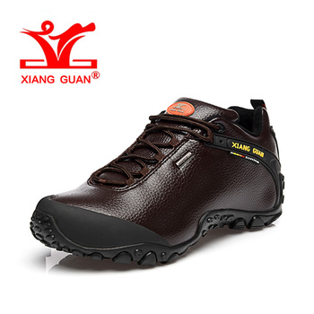XIANG GUAN Woman Hiking Shoes Women Microfiber Leather Trekking Boots Coffee Sport Climbing Mountain Outdoor Walking Sneakers