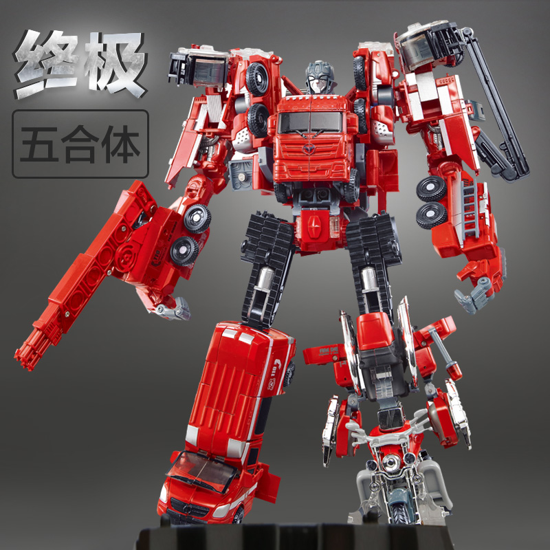 WEI JIANG Transformation Robots Deformation Boy toys fire and war alloy rescue crane motor drivers truck combiners autobots transformers robots in disguise combiners 6 inch action figure hightower autobot crane