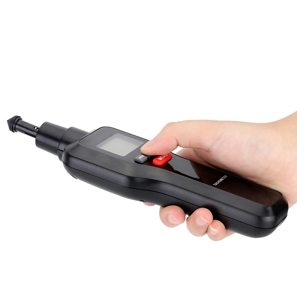 2 em 1 Digital Laser Tacômetro RPM Tach Tester Medidor de Velocidade de  Rotação Da Máquina Do Motor Elétrico com Ampla Faixa De Medição 2 99999 rpm  em ... c2332da35d