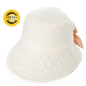 Image 4 - FANCET פשתן קיץ שמש כובע עבור נשים דלי כובעי Feminino Praia Chapeau Femme רחב ברים UPF50 + UV סנטר רצועה כובעי אופנה 89009