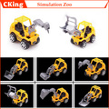 6PCS/LOT WWJ ABS Mini engineering Excavator set engineering car Model toys Lovely/Exquisite Free shipping
