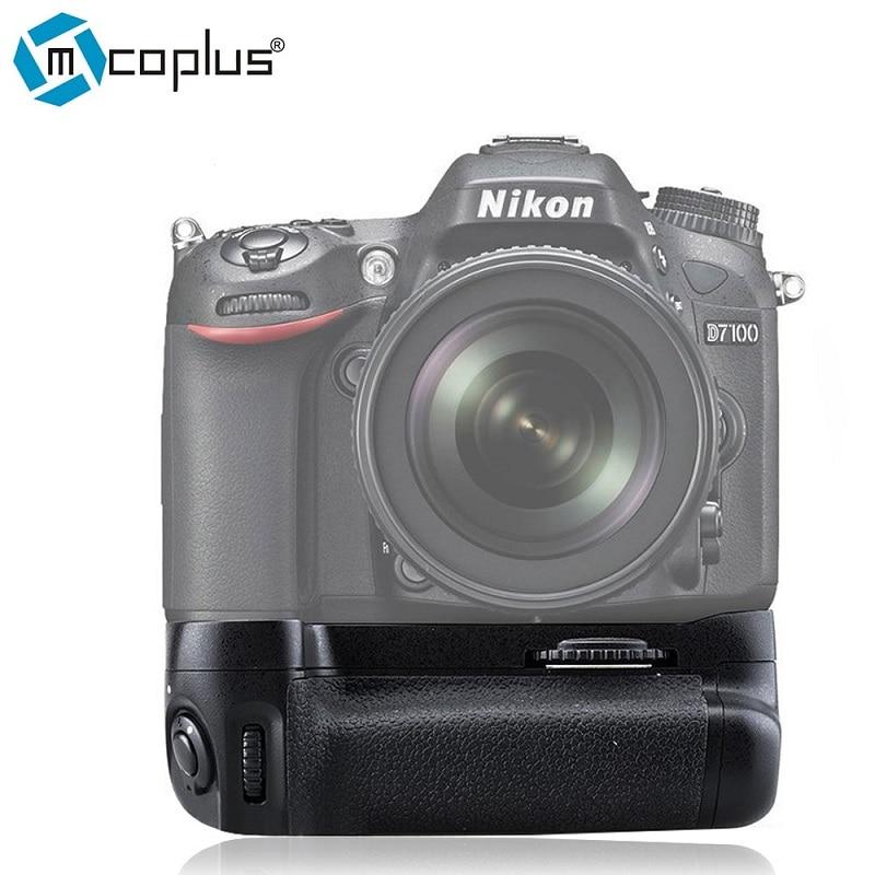 Mcoplus BG-D7100 다기능 수직 배터리 그립 홀더 니콘 DSLR D7100 D7200 카메라 용 MB-D15 Meike MK-D7100