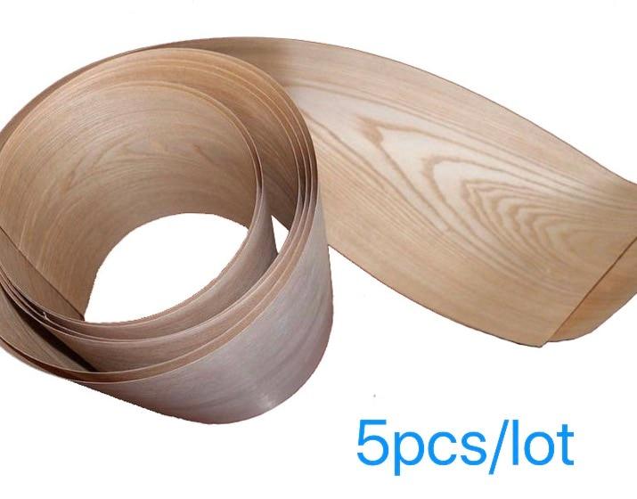 5Pieces/Lot Length: 2 Meters  Thickness:0.25mm Width: 15cm Wood Ash Veneer Speaker Leather Hand Solid Furniture