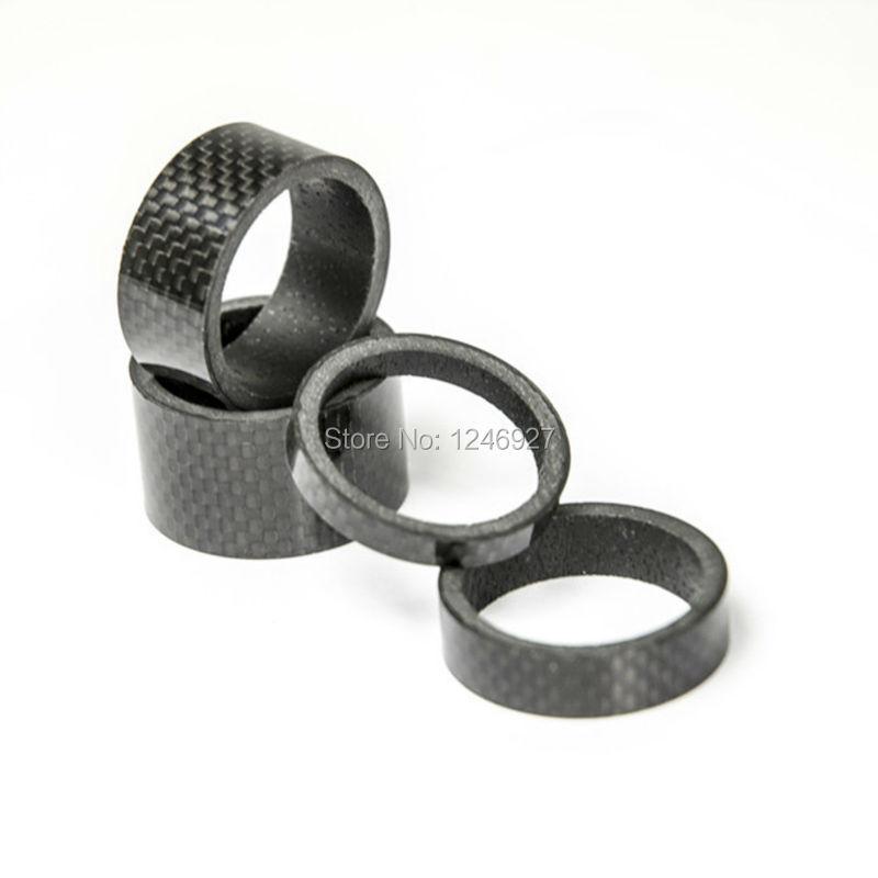 6pcs//set Carbon Fiber Bike Fork Headset Spacer 3mm 5mm 10mm for BicyYJUS
