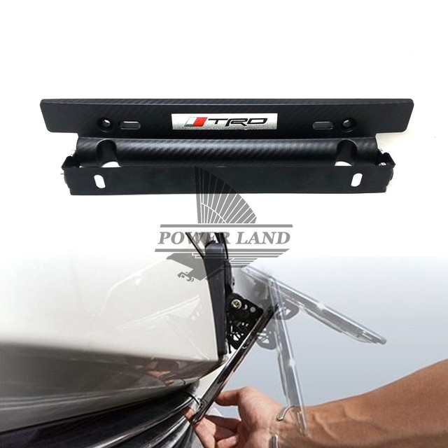 Wonderful Car Styling Adjustable TRD Logo Emblem Carbon Fiber Look Number Plate  Aluminium License Plate Frame Holder