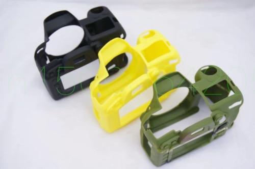 Para nikon D7000 D750 D5100 D5200 D610 D600 D7100 D7200 D5500 D5600 Cámara bolsa de silicona suave protector de goma cubierta del caso