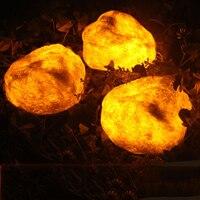 4 светодиодный фея Моделирование Смола камень солнечный Мощность действовали свет строка 4,7 м светодиодный украшения для Рождественский ве