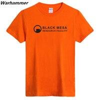 최고 평점 블랙 메사 연구 시설 남성 T 셔츠 패션 스타일 목 티 셔츠 옴므 면 3XL 여름 짧은 소매 티