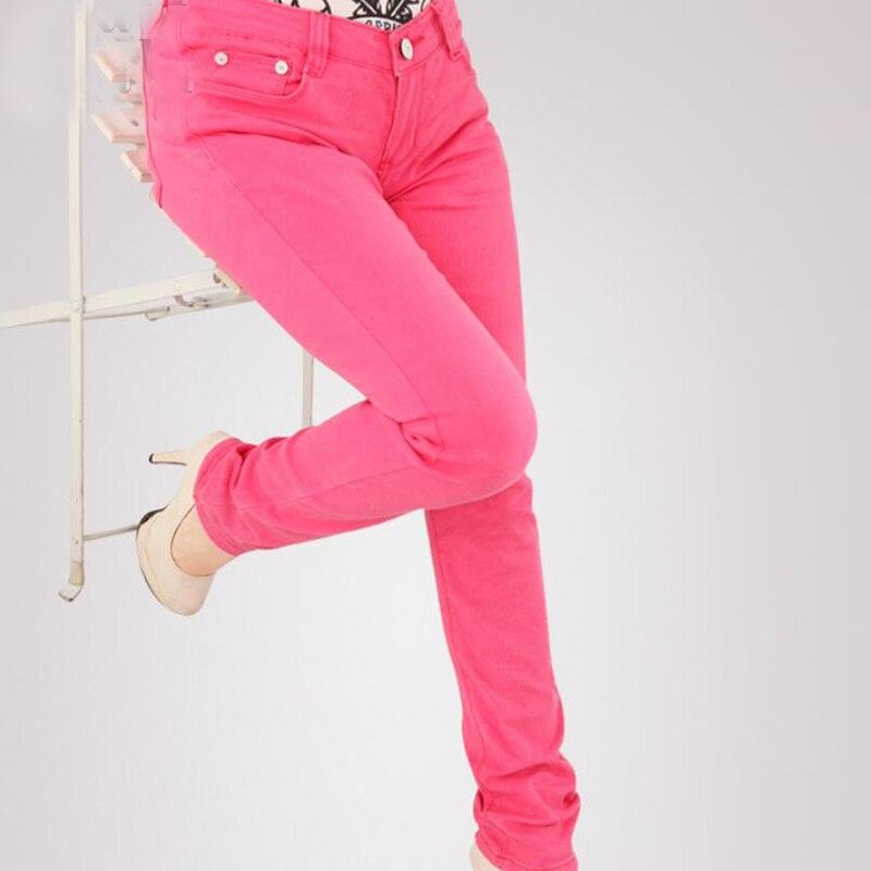 Color Para Stretch 2018 Tamaño Caramelo De Mujeres Pantalones Mezclilla Las Mujer Vaqueros Jeans Fucsia Gran Nuevos CrwCx7P0