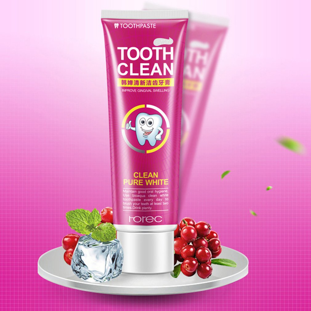 Horec Cranberry Mint Fresh Toothpaste Reduce Gingivitis Clean Dental wihtening Remove Stains Halitosis Plaque image